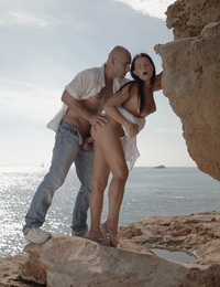 Gianna,A Love Story,Gorgeous Gianna and Pablo make passionate love with the wind in their hair and sea at their feet. Hot!
